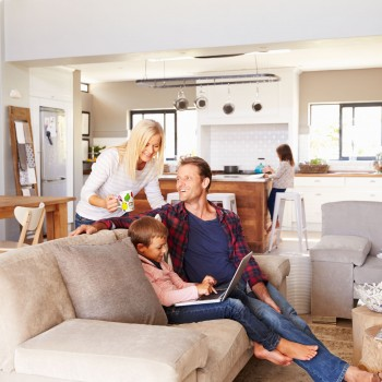 41402316 - family spending time together at home